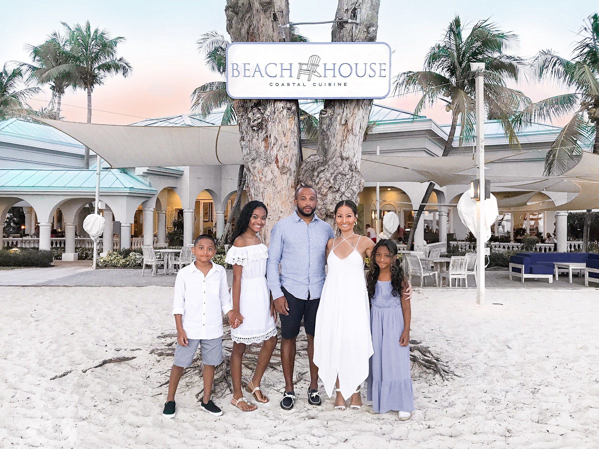 Best restaurants in grand cayman, Beach house Coastal Cuisine, Beach House Westin grand cayman,Westin Seven Mile Beach, family goals, blasian Family, stylish families
