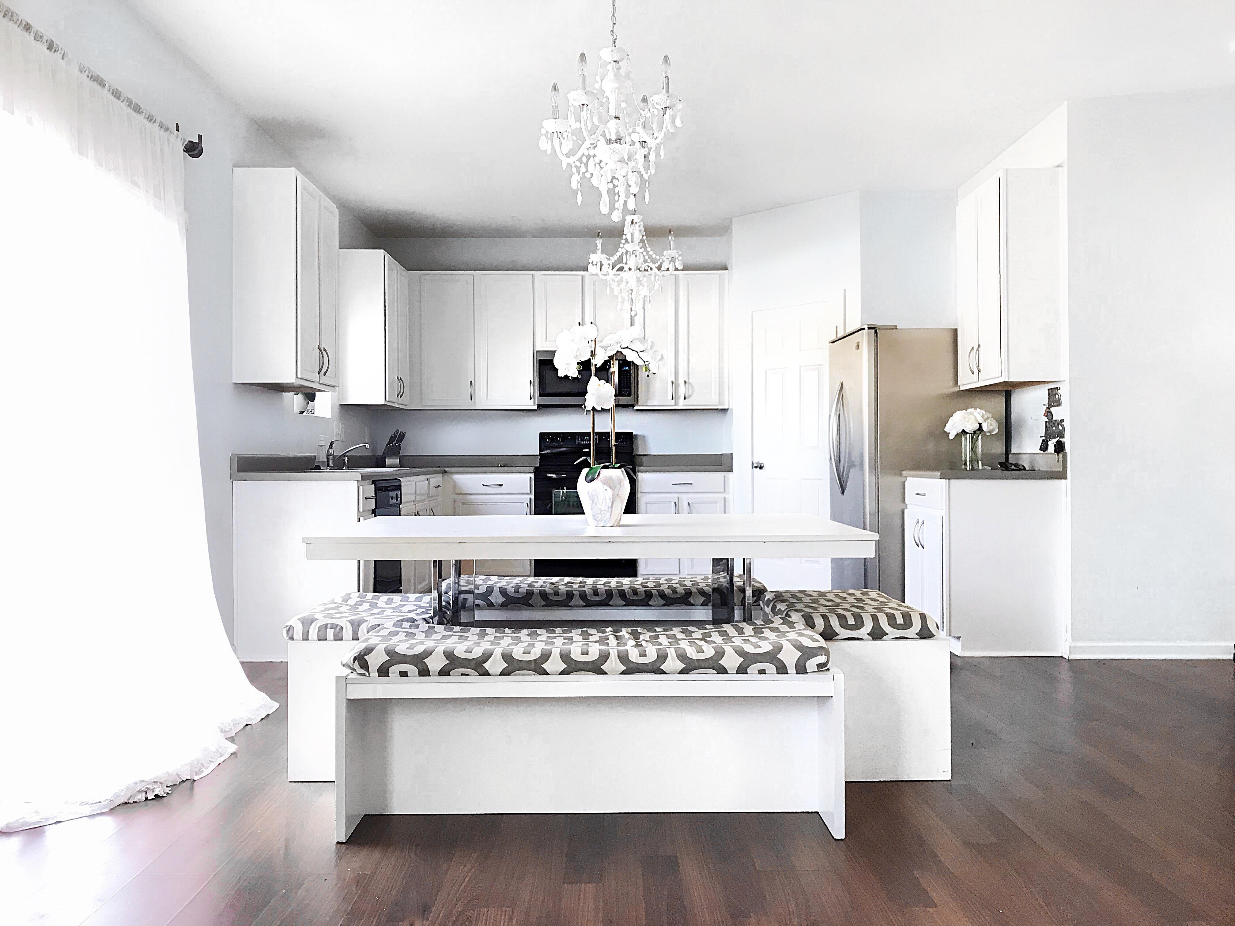 11803 Bending Branch rd. Charlotte, NC 28227, white kitchen, diy white kitchen