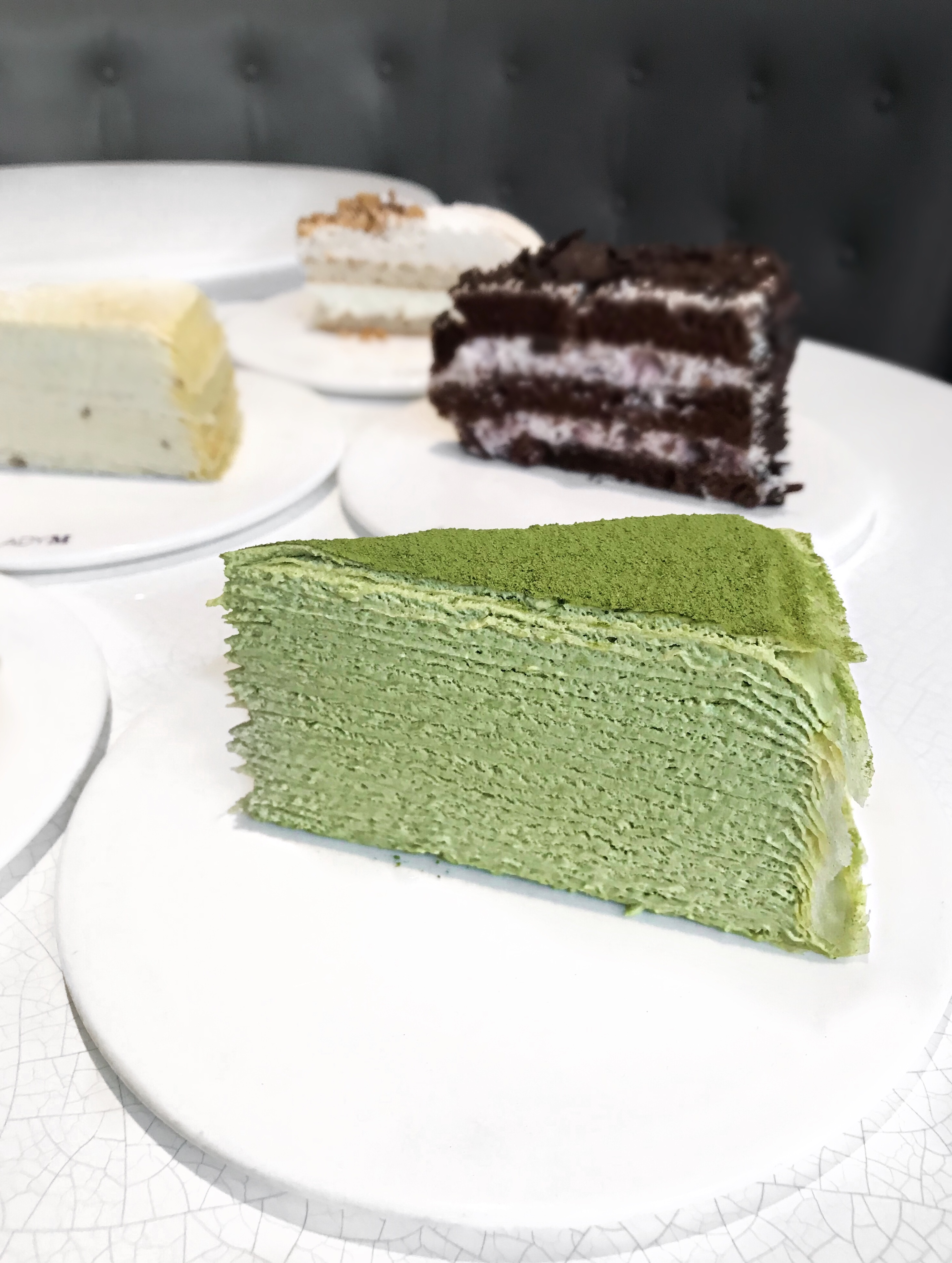 Matcha green tea crepe cake, Lady M Cake Boutique
