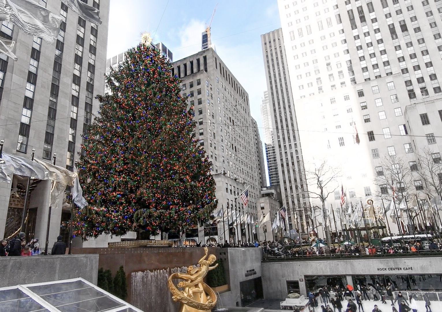 Rockefeller Rink, Rockefeller Center, NYC,